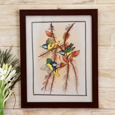 Wonder Wings Bird Silk Painting
