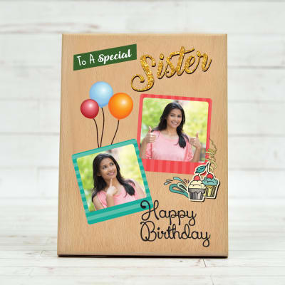 Wonderful Birthday Sister Special Personalized Wooden Plaque