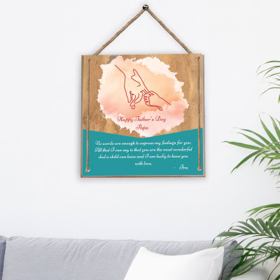Wonderful Dad Personalized Wooden Poster