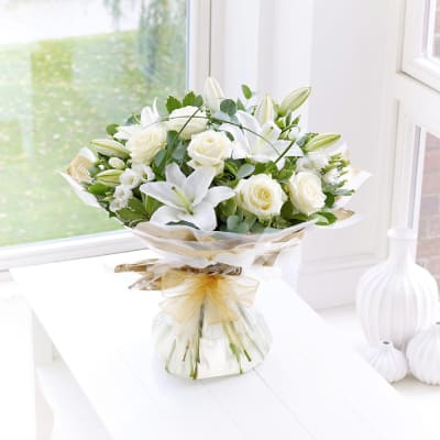 Send gifts to uk from india best gifts to london free gift wonderfully white hand tied negle Gallery