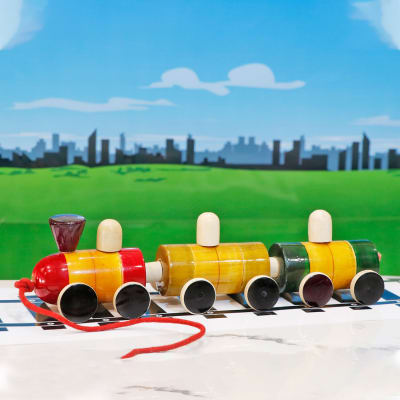 Wooden Colourful Train