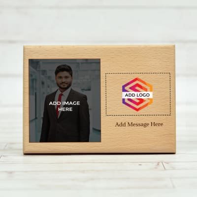 Wooden Plaque (Horizontal) - Customize with Logo, Image and Message