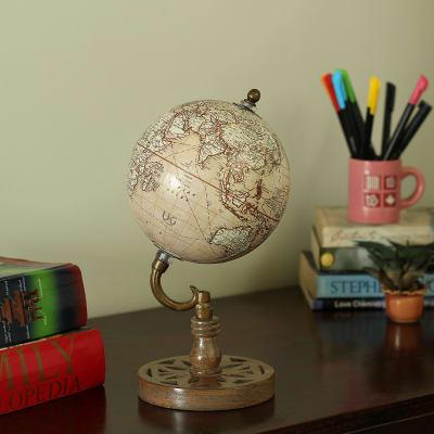 Wooden Spinning Globe