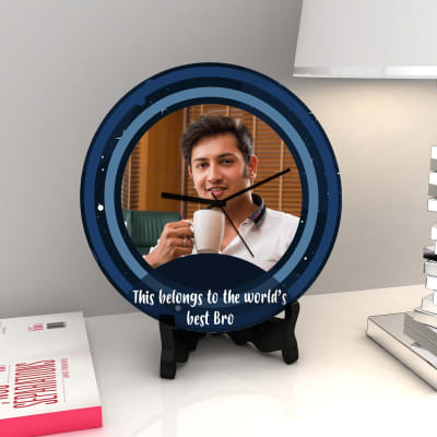 World's Best Bro Personalized Clock