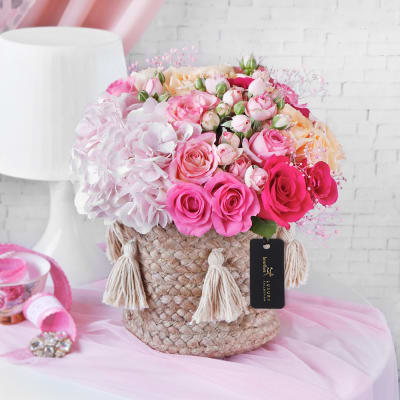 Woven with Love Flower Basket