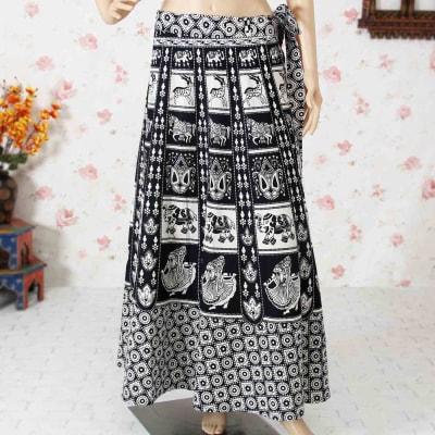 Wrapron in Black & White Rajasthani Print