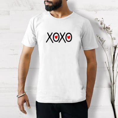 XOXO Cotton T-Shirt in White