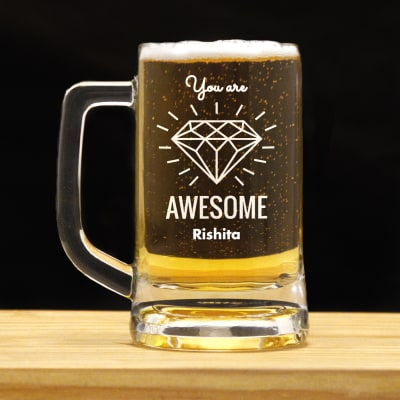 You are Awesome Personalized Beer Mug