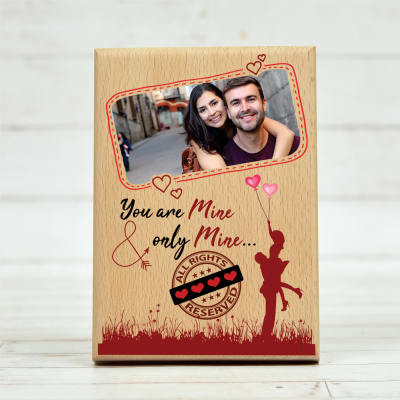 You are Mine Personalized Wooden Photo Frame