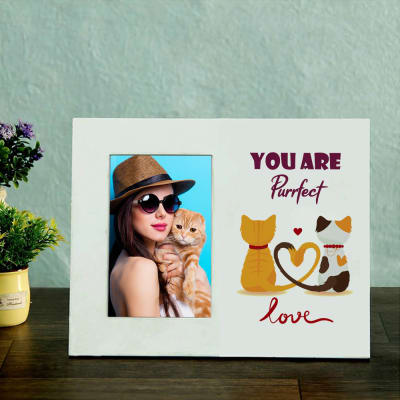 You Are Purrfect Pet Personalized Wooden Photo frame