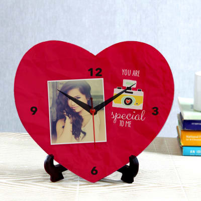 You Are Special To Me Personalized Heart Shaped Clock