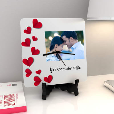 You Complete Me Personalized Clock