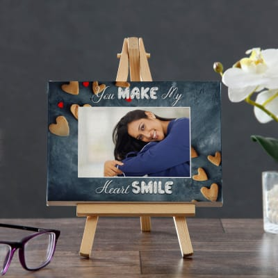 You Make My Heart Smile Personalized Canvas