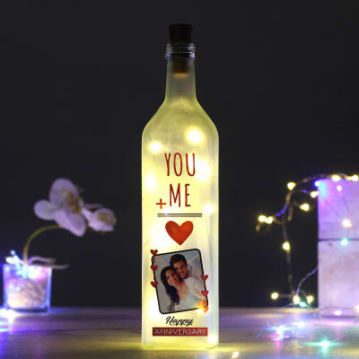 You & Me Personalized LED Bottle Lamp for Anniversary