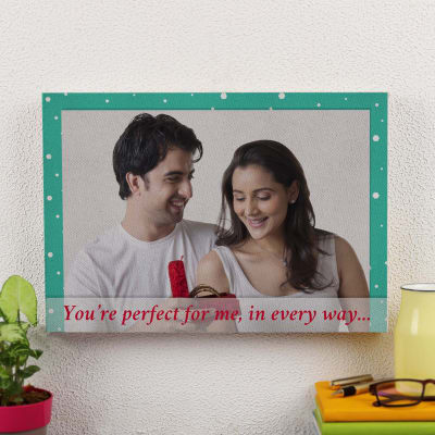 You're Perfect Personalized A3 Canvas