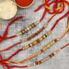 Rudraksha Rakhi Set of 5
