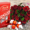 12 RED ROSES LINDT CHOCOLATES