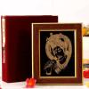 22 carat Gold Work Antique Krishna Wooden Photo Frame