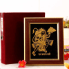 22 carat Gold Work Lord Hanuman Wooden Photo Frame