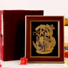 22 carat Gold Work Om Couple Krishna Radharani Wooden Photo Frame