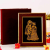 22 carat Gold Work Radhey Krishna Wooden Photo frame
