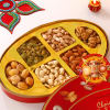 6 in 1 Dry Fruit Pack with Bhaidooj Tikka Thali