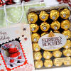 600gms Ferrero Rocher with Christmas Card