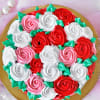 Gift Abundant Roses Chocolate Cake (Eggless) (Half Kg)