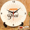 Adorable Bhai Clock with Roli Chawal Online