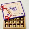 Alluring 2 Pearl & Beads Work Rakhi Set with Truffles Chocolate Box