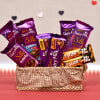 Assorted Cadbury Chocolates in Basket