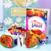 Assorted Chocolates with Clay Diyas & Greeting Card
