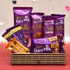 Assorted Chocolaty Hamper of Cadbury Chocolates in Bamboo Gift Box