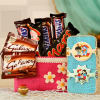 Assorted Chocolicious Bag with 2 Kids Rakhi