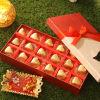 Assorted Homemade Chocolates with Bhai dooj Tikka