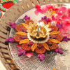 Attractive Floral Design Diya