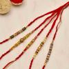 Auspicious Bead Work Rakhi Set