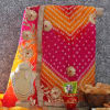 Bandhani Suit & Shringar with Necklace Set and Snacks Hamper
