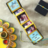 Beads Rakhi with Personalized Photo Pop-up Box