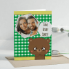 Beary Sorry Personalized Greeting Card