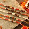 Beautiful Collection of 5 Tiger Eye Stone Rakhi