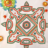 Beautiful Diya Design Rangoli