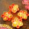 Beautiful Painted Clay Diyas
