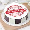 Best Boss Ever Poster Cake (1 Kg)