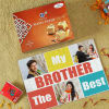 Best Brother Personalized A4 Paper Puzzle with Soan Papdi