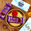 Bhai Dooj Tikka Thali with Customized Chocolate Box