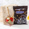 Bhaidooj Tikka with Snickers Miniatures in Goodie Bag