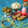 Bhaiya Bhabhi & Kid's Rakhi with Chocolates & Dry Fruits