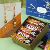 Bhaiya Bhabhi Rudraksh Rakhi with Chocolates in Gift Box