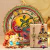 Bhaiya Bhabhi Set With Ganesha Puja Thali & Cashew Potli